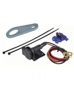 DIN socket with handlebar mounting