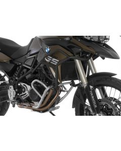 Stainless steel crash bar extension black for BMW F700GS, F800GS 2013 onwards